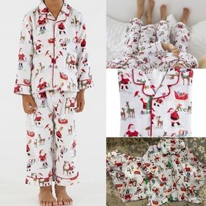 Pottery barn kids jolly Santa loose fit pajama set